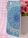 Zircon Beautiful Flowers Pattern Nice Feeling Embossment Back Case for iPhone 5/5S