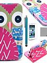 코코는 화면 protecter와 아이폰 6 4.7 다채로운 올빼미 패턴 PU 가죽 전신 케이스를 fun®