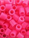 environ 500 pieces / sac rose 5mm fusibles perles perles hama bricolage puzzle eva materiel safty pour les enfants artisanat