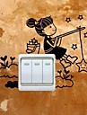 People Wall Stickers Plane Wall Stickers Light Switch Stickers, Vinyl Home Decoration Wall Decal Wall