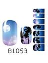 yemannvyou®14pcs moda dearm seabeach nail art de glitter b1053 etiqueta