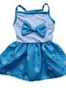강아지 드레스 강아지 의류 리본매듭 레드 블루