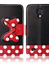черный фон вара лук шаблон PU кожаный чехол для всего тела для Samsung s4 мини i9190