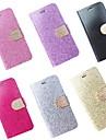 Para Capinha iPhone 6 / Capinha iPhone 6 Plus Porta-Cartao / Com Suporte / Flip Capinha Corpo Inteiro Capinha Brilho com Glitter Rigida