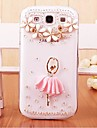 Case For Samsung Galaxy Samsung Galaxy Case Rhinestone Transparent Pattern Back Cover 3D Cartoon PC for S7 edge S7 S6 edge plus S6 edge
