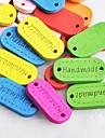 эллиптической ручной альбом scraft швейные DIY Деревянные кнопки (10 шт случайный цвет)
