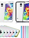 Candy Color PC+TPU 2-in-1 Combo Back Cover Case for Samsung S5 I9600 (Assorted Colors)