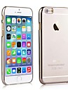 zero moldura galvaniza resistente caso dificil voltar transparente para iPhone 6 Plus (cores sortidas)