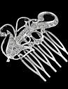 в форме цветка Slivered декор стразами пять зуб гребень волос (1шт)