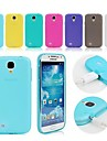 caso macio TPU com plug de poeira para Samsung Galaxy S4 mini-i9190 (cores sortidas)