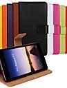 cor solida de couro genuino capa de corpo inteiro com cartao e ficar caso para p7 huaweiascend (cores sortidas)