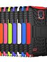 deux-en-un bandes de couleur de l'éblouissement PC design et étui en silicone avec support pour Samsung Galaxy Note 4 (couleurs assorties)