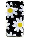 White Flowers Pattern TPU Soft  Cover for Galaxy Grand Neo I9060