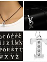 Pendant Necklace Leather Rhinestone X Y Z Necklace Jewelry For Party Daily Casual