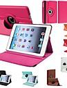 DF® durable flip-ouverte cuir PU cas complete du corps avec rotation de 360 degres pour iPad Mini (couleurs assorties)