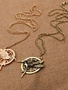 Golden / Coppery Pendant Necklaces Alloy Wedding / Party / Daily / Casual / Sports Jewelry