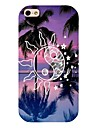 Sun Coconut Tree Pattern Back Case for iPhone 4/4S