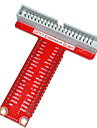 Tipo-t acessorio placa de expansao GPIO para Raspberry Pi b + - vermelho