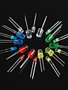 100pcs diode electroluminescente led3mm 5mm rouge vert blanc bleu jaune
