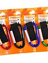 8mm Carabiner With Strap/Keyring Quick Release Keychain Buckle Hanging (Random Color)