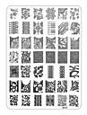 xyseries chic dizajn na noktima slike pečat žigosanje pločama manikura predložak xy17