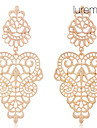 Lureme®Vintage Alloy Hollow Drop Earrings