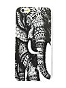 The Elephant PatternTPU Leather Back Cover Case for iPhone 6/6S
