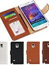 couro pu caso de corpo inteiro com slot para cartão e carteira e stand para Samsung Galaxy Note 4 (cores sortidas)