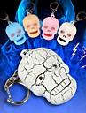 страшно череп головы LED Звук брелок (больше цветов)