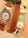 Жен. Наручные часы Кварцевый Японский кварц Горячая распродажа Кожа Группа Аналоговый На каждый день Богемные Жемчуг Черный / Белый / Красный - Черный Кофейный Красный