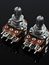 WH148 Double Union Potentiometer 6 Pins Long Handle 15mm - 100K (2pcs)