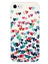 coloré motif cas de retour de coeur pour iPhone 6