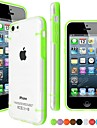 Glow in The Dark TPU Bumper with Clear Back Case for iPhone 5C(Assorted Color)