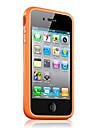 TPU solide cadre de couleur cas de pare-chocs pour iPhone 4 / 4S (couleurs assorties)