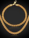 u7® классический 18k реальное позолоченные коренастый ожерелье цепи ювелирных изделий для мужчин / женщин ювелирные изделия