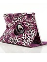 High Quality PU Leather Leopard Print Spin Full Body Case for iPad Air 2 (Assorted Colors)