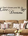 Mots & Citations Stickers muraux Autocollants avion Autocollants muraux decoratifs, PVC Decoration d\'interieur Calque Mural Mur