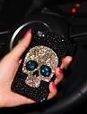 senhora do estilo cranio com moldura de diamante para iphone 6 mais