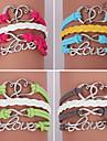 pulseiras eruner®leather multicamadas coração liga e encantos do amor pulseiras artesanais