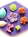 mini-rose coquille en forme de fleur bowknot outils gateau au chocolat fondant moule en silicone gateau de decoration, l8.5cm * * w7.5cm h1.3cm