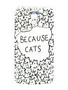 padrão cartoon gato fina cobertura caso difícil para i9600 samsung galaxy s5