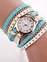 Женские Модные часы Часы-браслет Кварцевый Кожа Группа