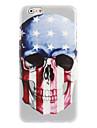 bandeira E.U.A. e design crânio duro para o iPhone 6