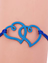 Eruner® Fashion Colorful Two Heart Pattern Bracelet(Assorted Colors)