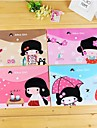 Japanese Girl Pattern Plastic A4 File Bag(1 PCS)