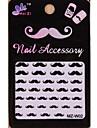 1pcs style de moustache de bande dessinée autocollants nail art MZ Series MZ-w02