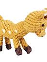 Köpekler Oyuncaklar Evcil Hayvan Oyuncakları Çiğneme Oyuncağı İp / Geyik Dokuma Kahverengi