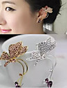 여성용 합성 다이아몬드 귀는 - 라인석 버터플라이, 동물 실버 / 골든 제품 결혼식 파티 일상