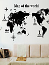 Environmental Removable The Map of The World PVC Wall Sticker