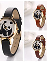 Women's Panda Round  Dial Leather Quartz Wristwatches  (Assorted Color) Cool Watches Unique Watches